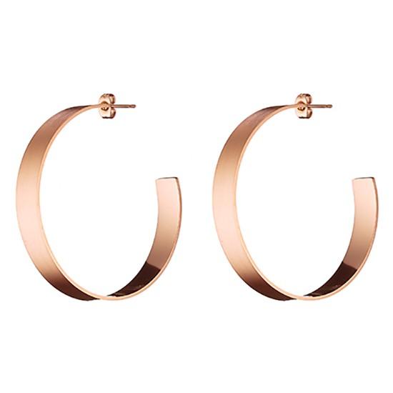 TRENTO ατσάλινα σκουλαρίκια σε χρώμα ροζ χρυσό Ν-02143R