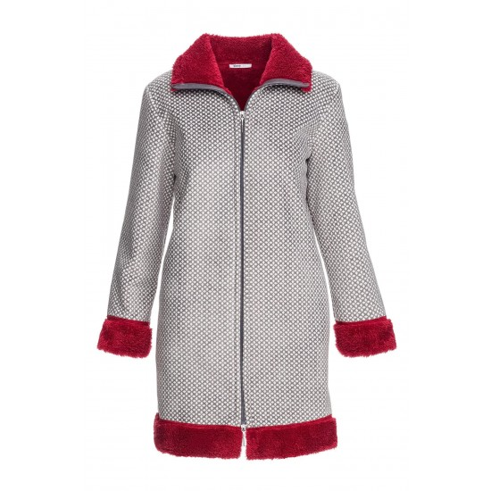VAMP Γυναικεία Ρόμπα Fleece με Φερμουάρ 13058