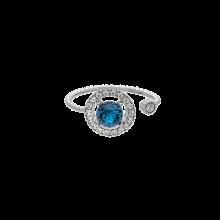 LILY AND ROSE Δαχτυλίδι Miranda / Silver Blue επιπλατινωμένος ορείχαλκος πέτρες Swarovski