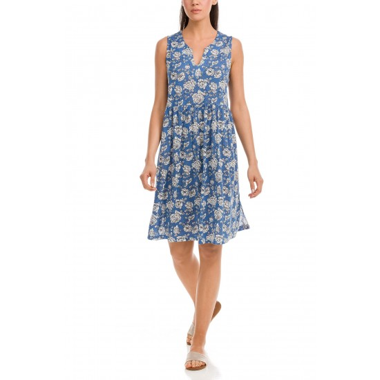 Vamp - Φόρεμα Αέρινο Φλοράλ blue palace 12507